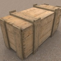 Wooden Packing Crate 3D Model