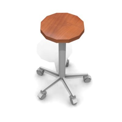 stool chair 02 3d 3ds