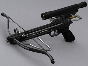 crossbow sniper 3d model