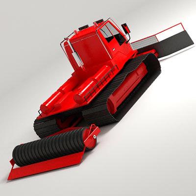 snowgrooming tractor snow 3d model