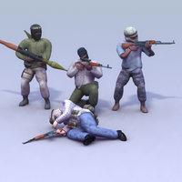 Terrorists_4xSet_3DGameModel