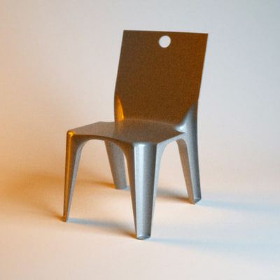 3d hair chair model