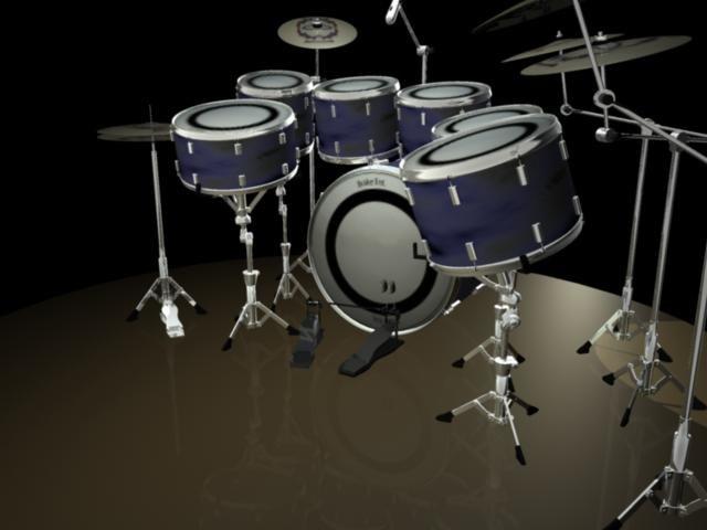 drumset drums 3d ma