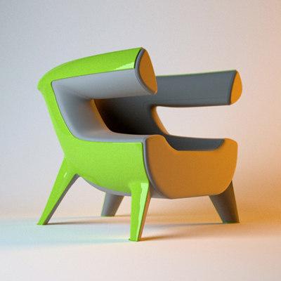 armchair ed 3d model