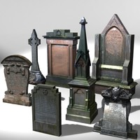 3d stone grave gravestone