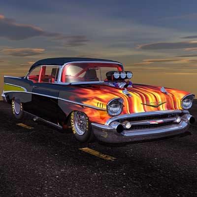 3d hot rod cars model