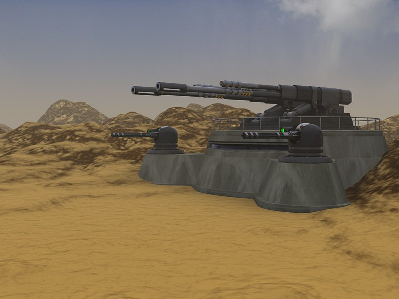 artillary bunker 3d model