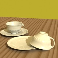 Detailed teacup and saucer