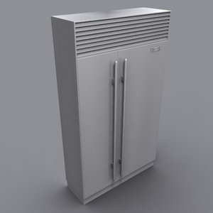 3d sub-zero refrigerator model