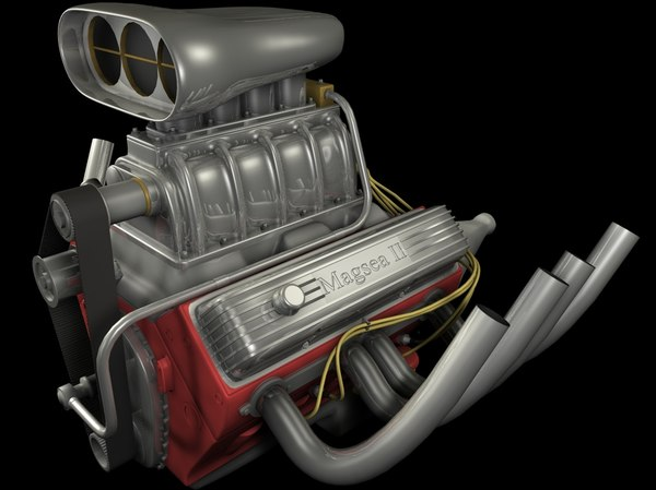 3d supercharged engine model