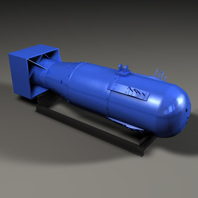 little boy nuclear bomb 3d model