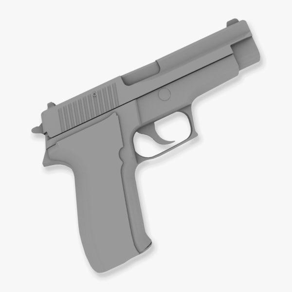 p226 9mm pistol 3d model