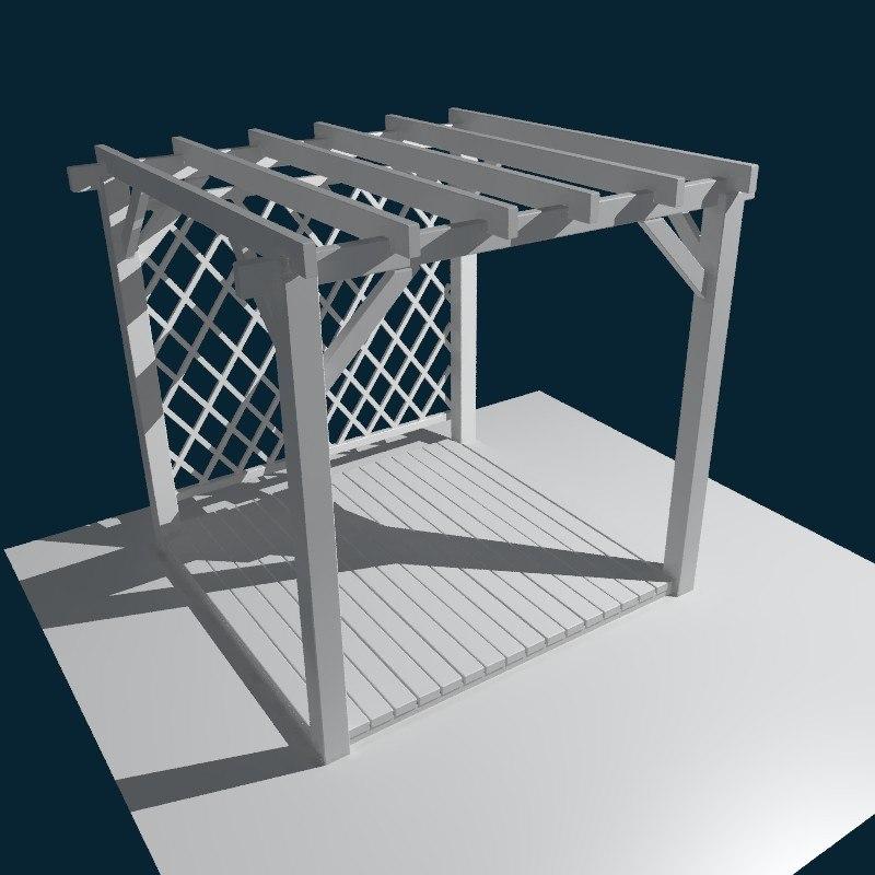 3d model pergola outdoor