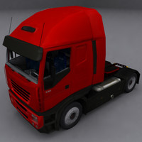 long range truck interior 3d max