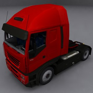 long range truck interior 3d max
