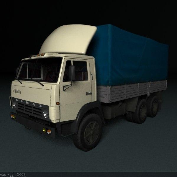 materials kamaz truck 3d max