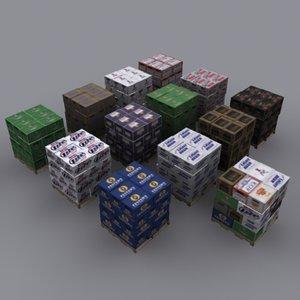 3d pallets beer cases