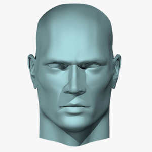 male head human 3d 3ds