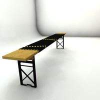 industrial bench obj