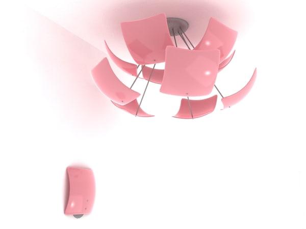 chendelier lamp modelled 3d model