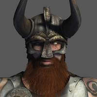 viking warrior 3d model