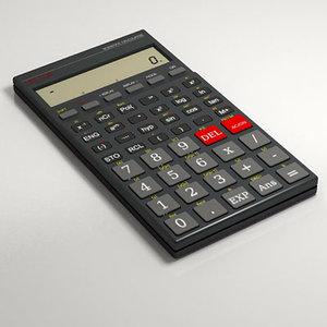 scientific calculator calc 3d model