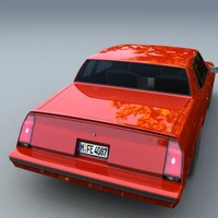 3d chevrolet montecarlo ss 1986 model