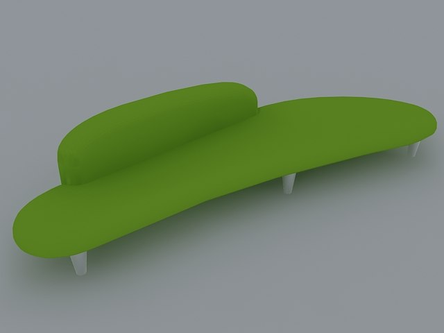 3ds max modern couch