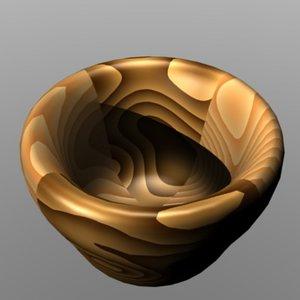 wood bowl 3ds