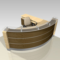 3d office reception furniture model