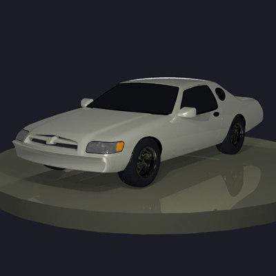 3d model generic sport coupe