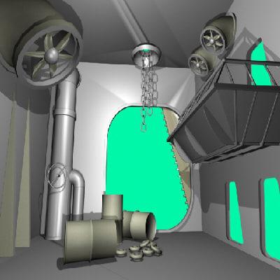 free 3ds mode interior scene