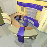 3d max office reception interior