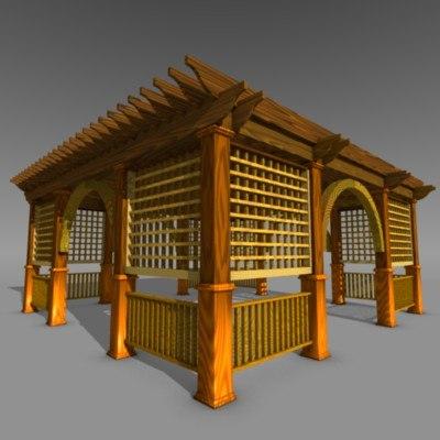 pergola house 3d model