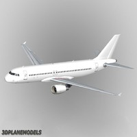 Airbus A-320 Generic white