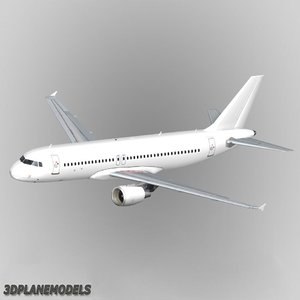 airbus a320 generic white 3d max