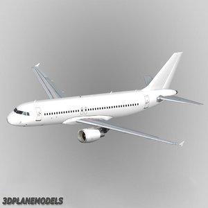 airbus a320 generic white 3d max
