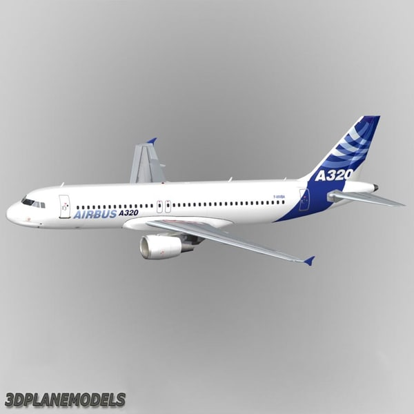 3d model of airbus a320 house a-320