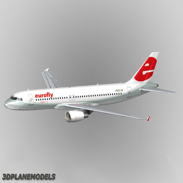 3d airbus a320 eurofly a-320 model