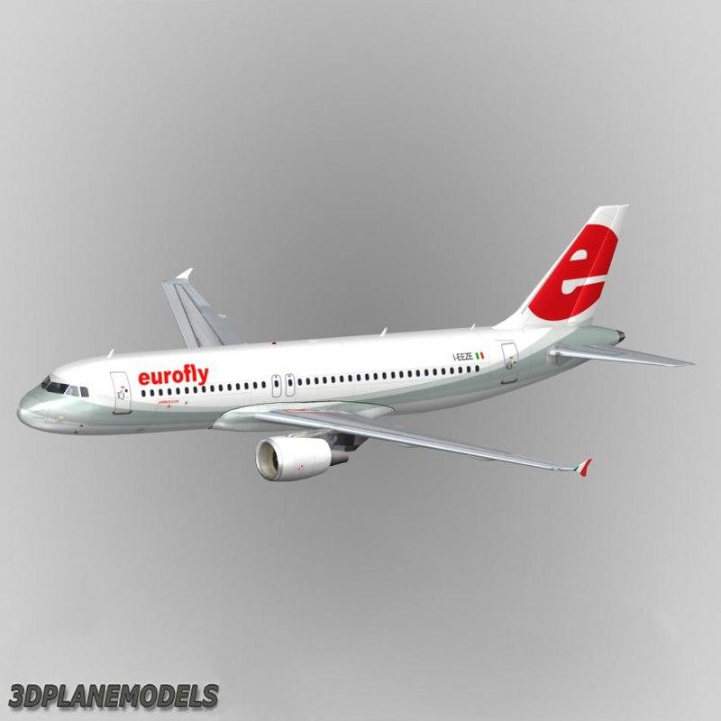3d airbus a320 eurofly a-320 model