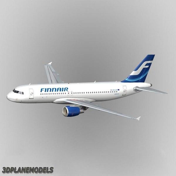 airbus a320 finnair a-320 3d 3ds