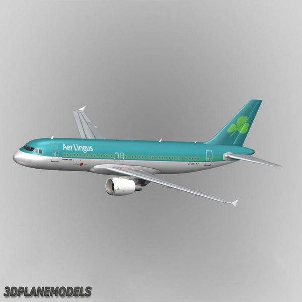 3d airbus a320 aer lingus