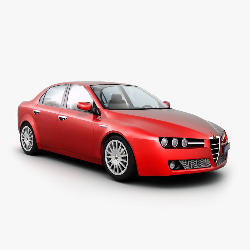 3d alfa romeo 159 car