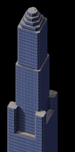 office building tower 3d max