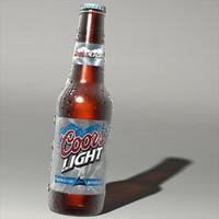 3d coors bottle