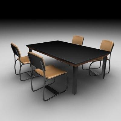cinema4d table chair
