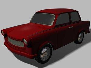 trabant vehicule old 3d model