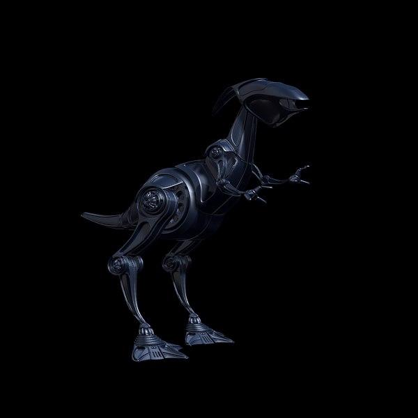 3d obj robot raptor
