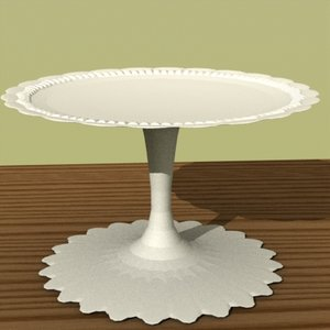 cake stand food 3d model
