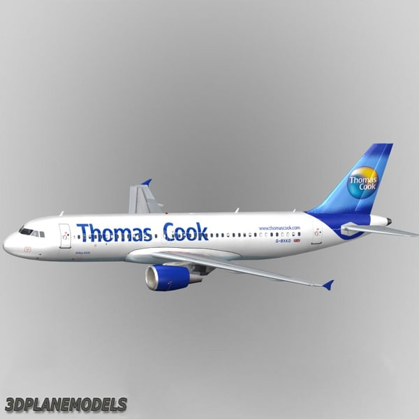 3d model airbus a320 thomas cook